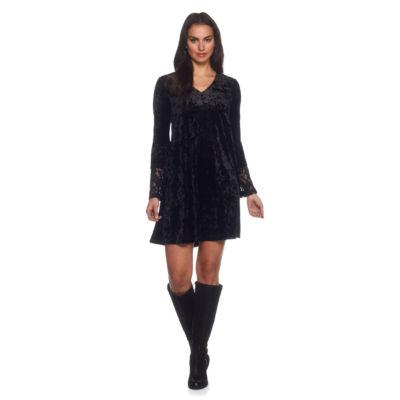 Skyes The Limit St. Mortiz Crushed Velour A-line Dress- Plus
