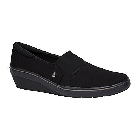 Grasshoppers Womens Indie Slip-On Shoe, 6 1/2 Medium, Black
