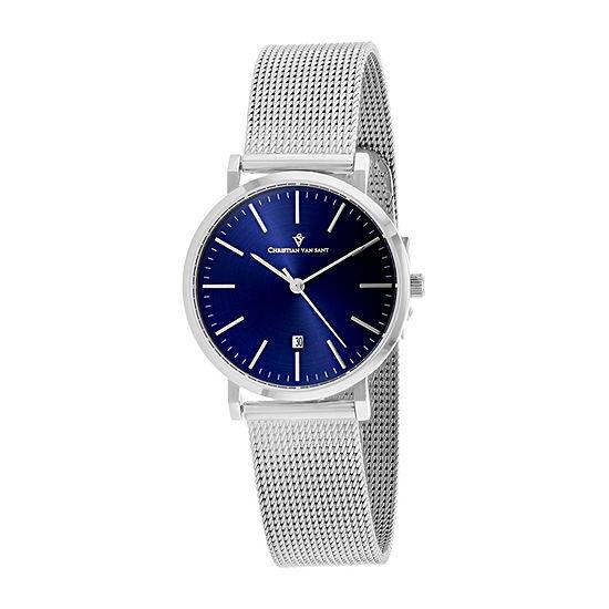 Christian Van Sant Womens Silver Tone Bracelet Watch-Cv4220