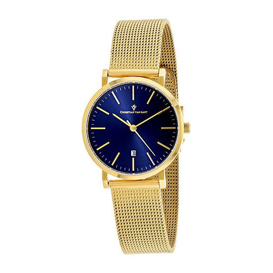 Christian Van Sant Womens Gold Tone Bracelet Watch-Cv4224