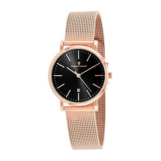 Christian Van Sant Womens Rose Goldtone Stainless Steel Bracelet Watch - Cv4221