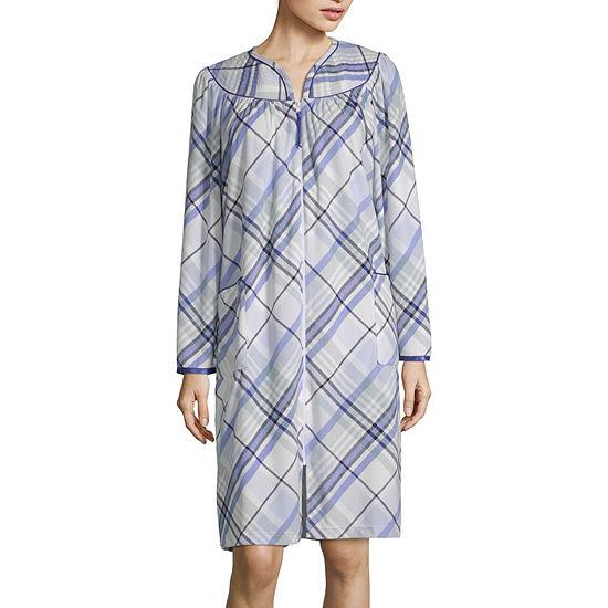 Lissome Womens Fleece Robe Long Sleeve Knee Length