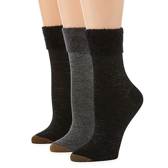 Gold Toe 3 Pair Crew Socks Womens