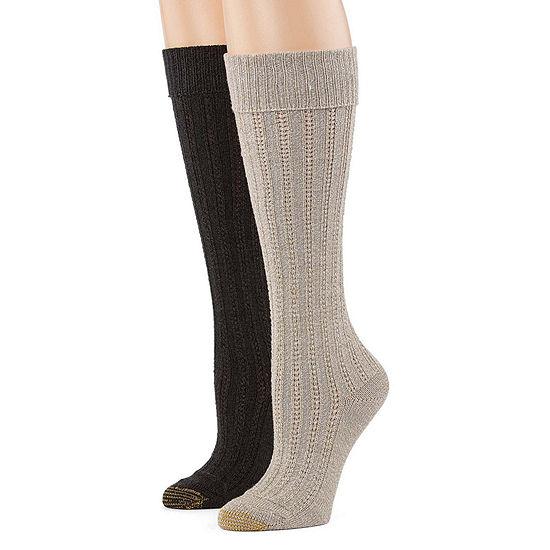 Gold Toe 2 Pair Knee High Socks Womens