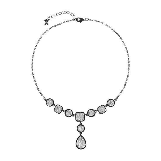 Mixit Black 18 Inch Cable Y Necklace