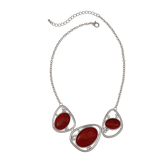 Mixit Red Womens Collar Necklace