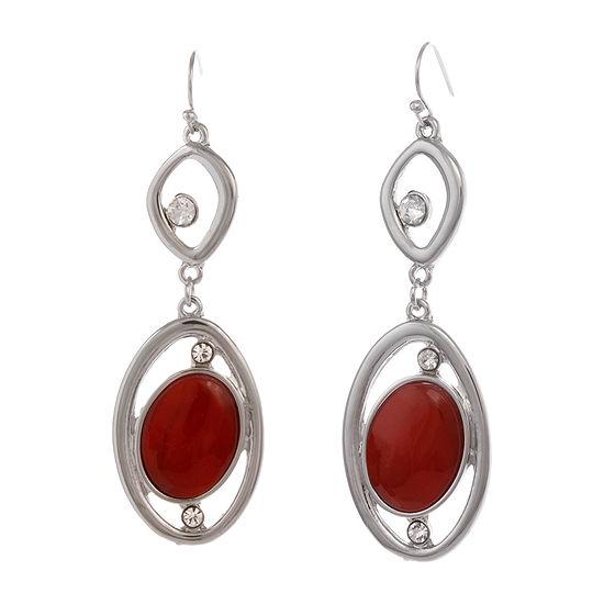 Mixit Red 1 Pair Drop Earrings
