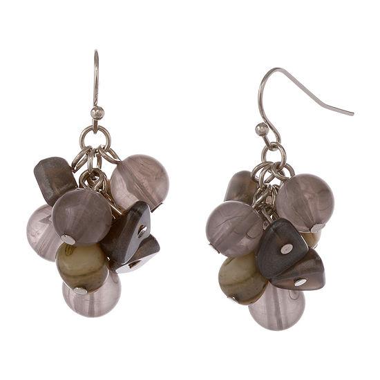 Mixit Gray 1 Pair Drop Earrings