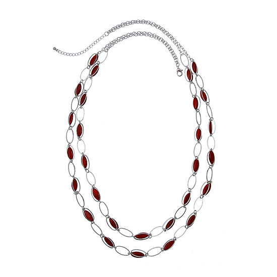 Mixit 34 Inch Beaded Necklace