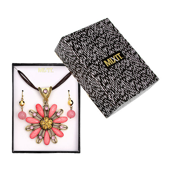 Mixit Boxed Gold Tone Flower 2-pc. Jewelry Set