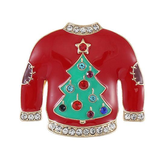 Liz Claiborne Sweater Multi Color Pin