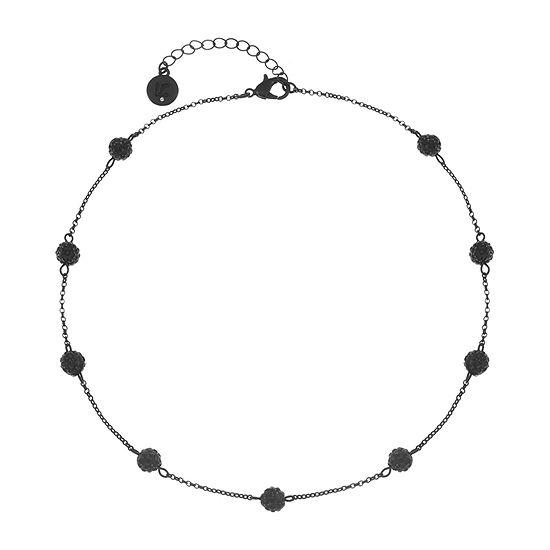 Liz Claiborne Black 17 Inch Cable Collar Necklace