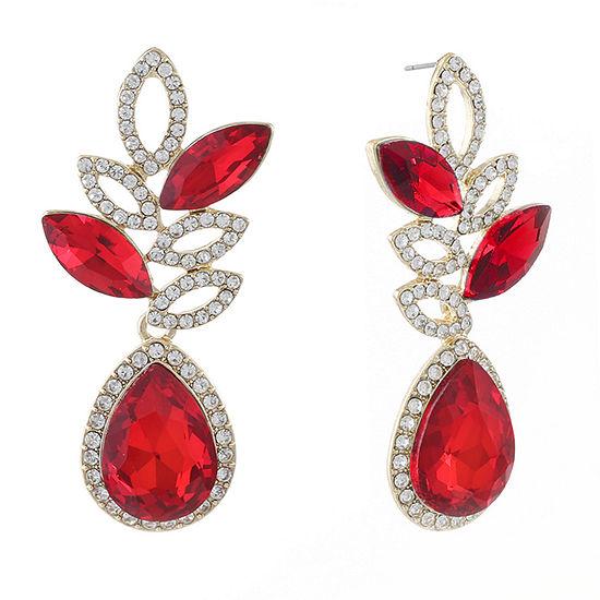 Monet Jewelry 1 Pair Red Drop Earrings