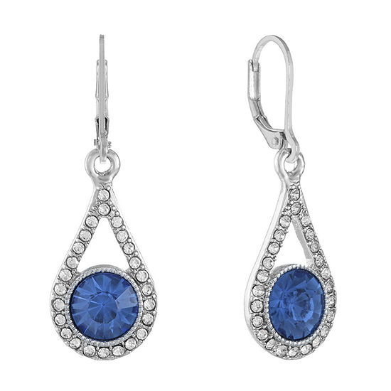 Monet Jewelry 1 Pair Blue Drop Earrings