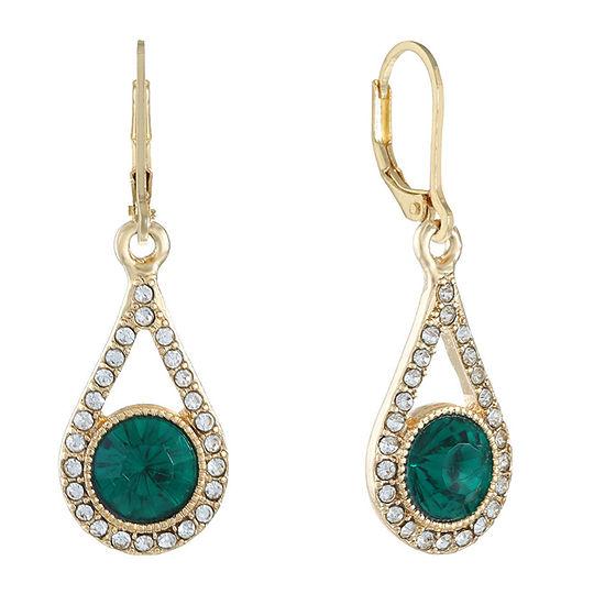 Monet Jewelry 1 Pair Green Drop Earrings