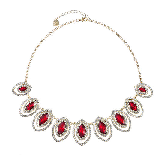 Monet Jewelry Red 18 Inch Cable Collar Necklace