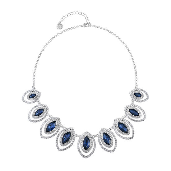Monet Jewelry Blue 18 Inch Cable Collar Necklace