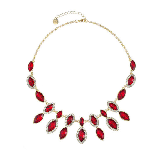 Monet Jewelry Red 18 Inch Rope Statement Necklace