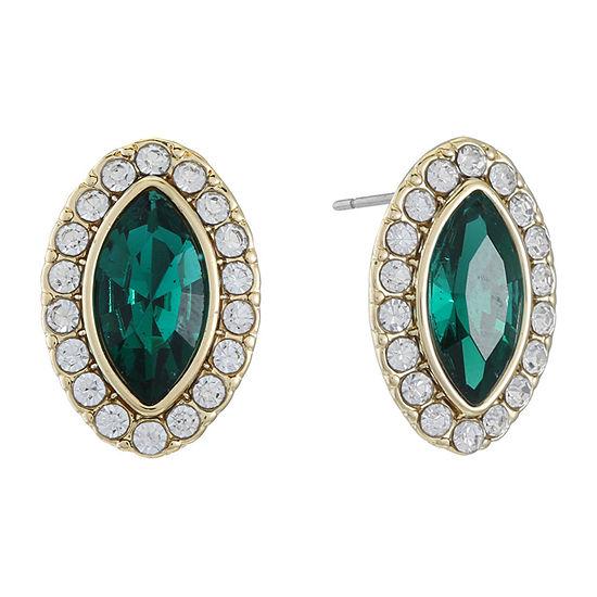 Monet Jewelry Green 18mm Stud Earrings