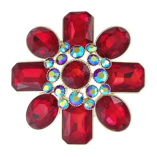 Monet Jewelry 90th Anniversary Red Pin
