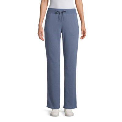 St. John's Bay Active Womens Mid Rise Straight Sweatpant Tall