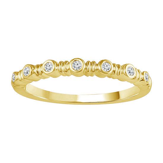 Womens Diamond Accent Genuine White Diamond 10K Gold Band