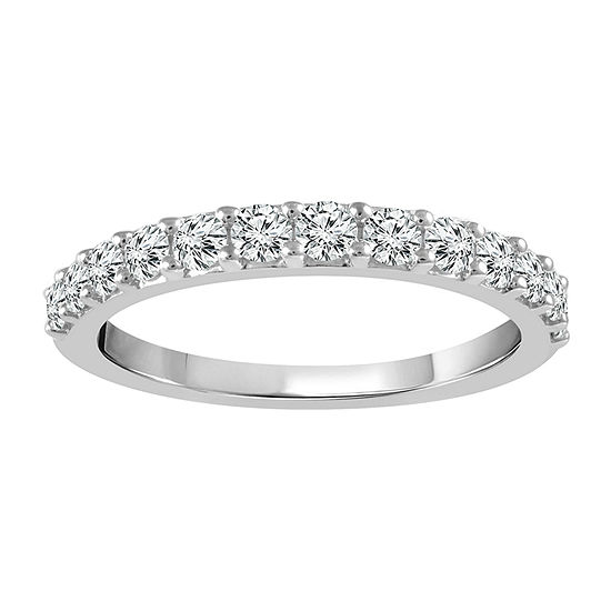 3/4 CT. T.W. Genuine White Diamond 14K White Gold Band
