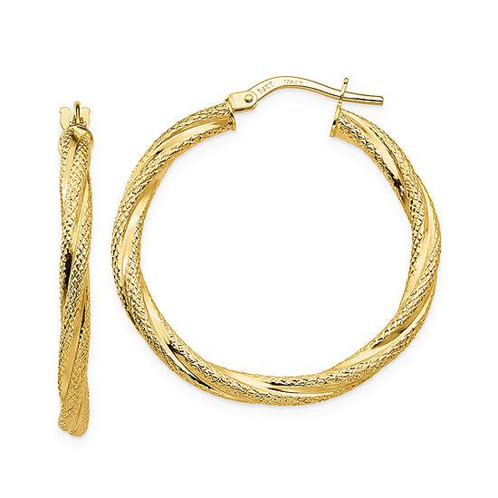 14K Gold 31mm Hoop Earrings