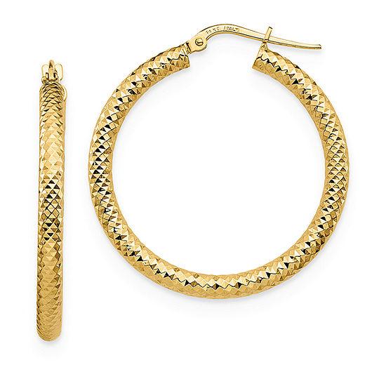 14K Gold 33.7mm Hoop Earrings