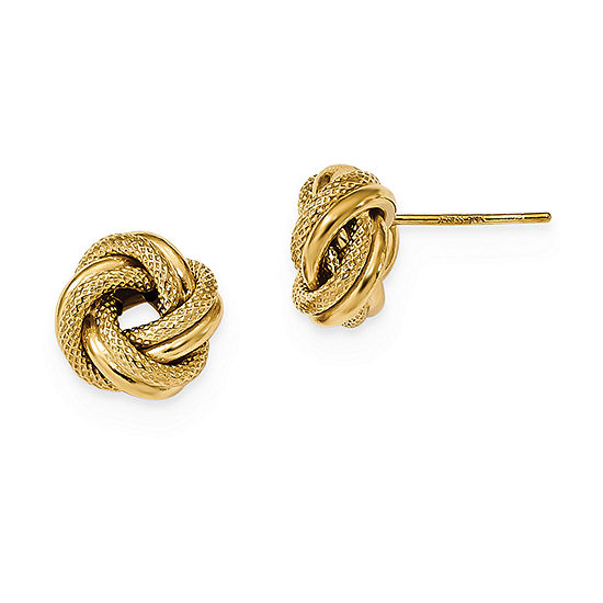 14K Gold 10mm Knot Stud Earrings