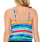 St. John's Bay Striped Tankini Swimsuit Top