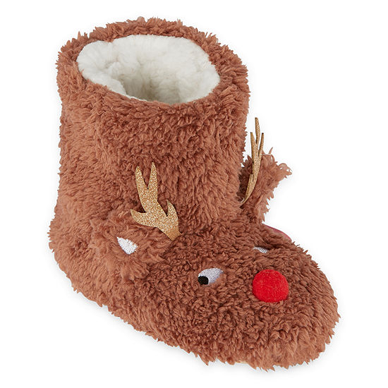 Okie Dokie Reindeer Bootie Slippers - Unisex Toddler