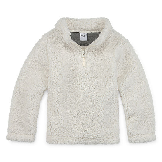 Okie Dokie Sherpa Boys Long Sleeve Quarter-Zip Pullover - Toddler