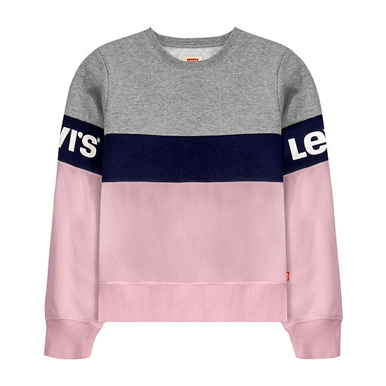 Levi's Crew Neck Long Sleeve Sweatshirt - Toddler Girls