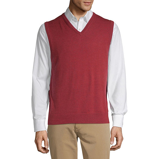 Claiborne Mens V Neck Sweater Vest