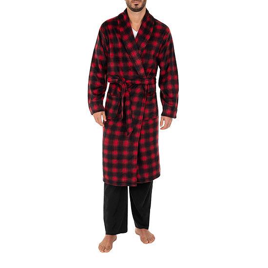 IZOD micro Poly Suede Shawl Collar Robe-Big