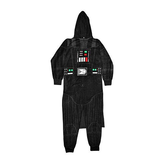 Mens Microfleece One Piece Pajama Long Sleeve Star Wars
