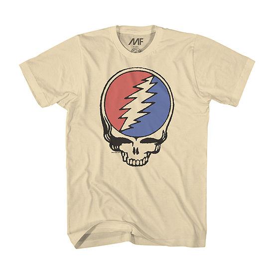 Mens Crew Neck Short Sleeve Grateful Dead Graphic T-Shirt
