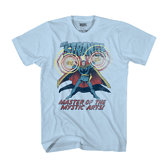 Mens Crew Neck Short Sleeve Marvel Dr. Strange Graphic T-Shirt
