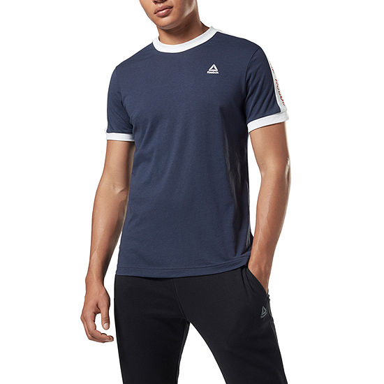Reebok Mens Crew Neck Short Sleeve T-Shirt-Slim