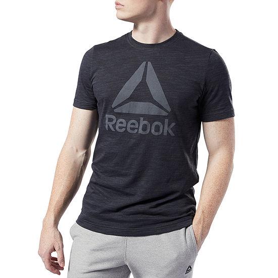 Reebok-Slim Mens Crew Neck Short Sleeve T-Shirt