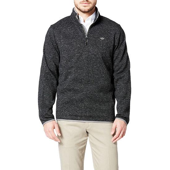 Dockers Smart 360 Flex Quarter Zip Mock Neck Long Sleeve Pullover Sweater