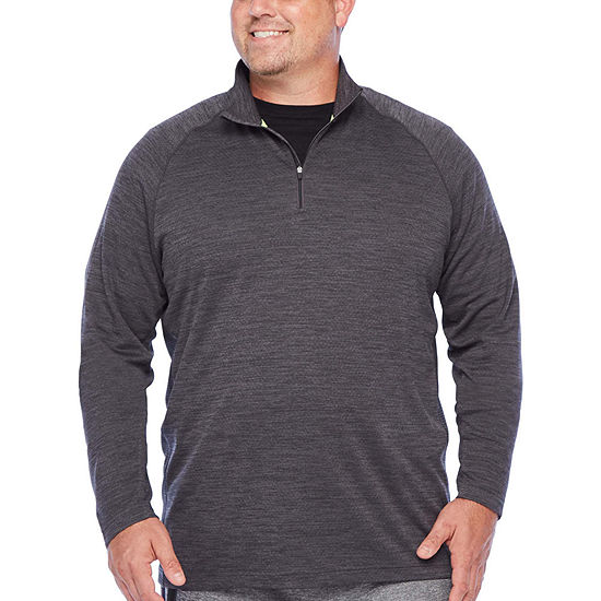 The Foundry Big & Tall Supply Co. Mens Mock Neck Long Sleeve Quarter-Zip Pullover Big and Tall