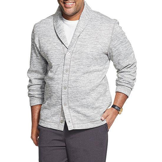 Van Heusen Mens Collar Neck Long Sleeve Cardigan Big and Tall