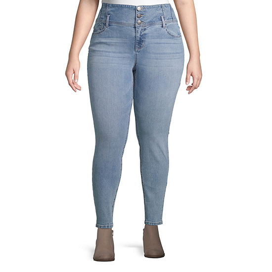 Blue Spice Womens High Waisted Skinny Regular Fit Jean - Juniors Plus