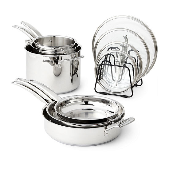 Cuisinart Nesting Stainless Steel 11-Pc. Cookware Set