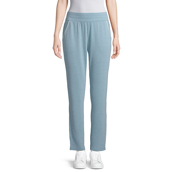 St. John's Bay Active Color Block Womens Mid Rise Slim Pant