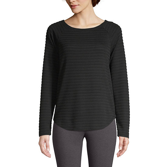 St. John's Bay Active-Womens Round Neck Long Sleeve T-Shirt