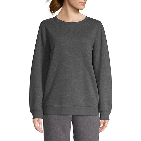 St. John's Bay Active Womens Crew Neck Long Sleeve Sweatshirt