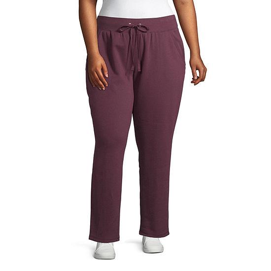 St. John's Bay Active Womens Mid Rise Slim Pant-Plus